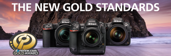 DPReview Gold award has been awarded to the Nikon D5, D500 and D810
